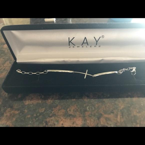 c255e7d4a Kay Jewelers Jewelry | Kays Cross Bracelet | Poshmark